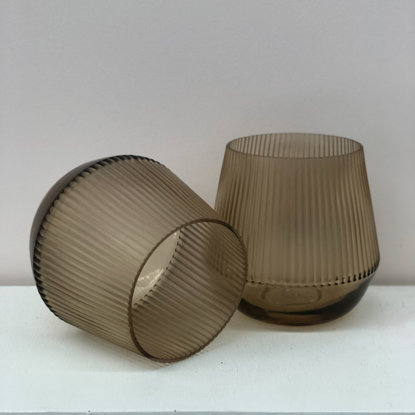 Brown-Glass-Vases