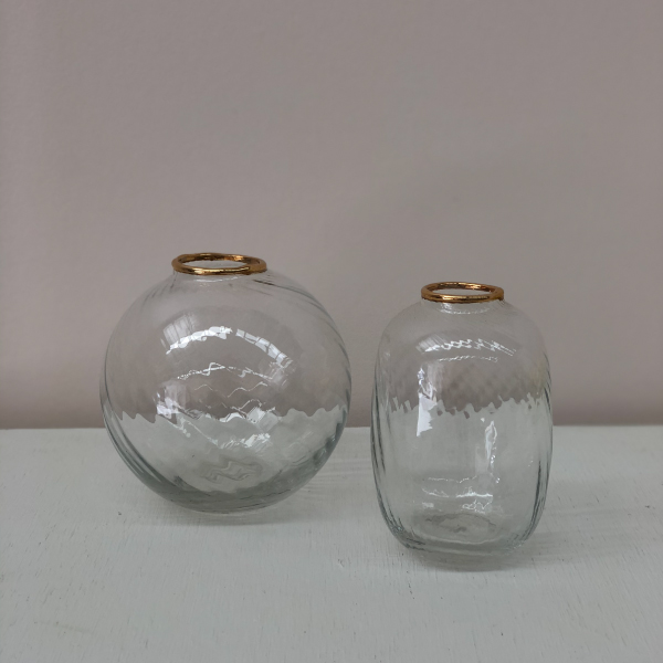 Gold-Rimmed-Glass-Bud-Vases