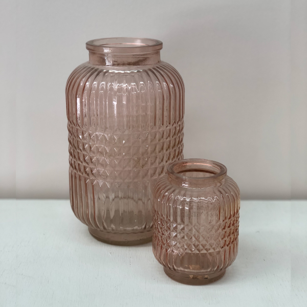 Pink-Glass-Vases