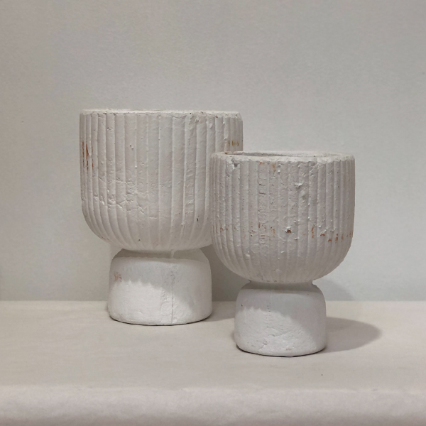 Ribbed-White-Pot